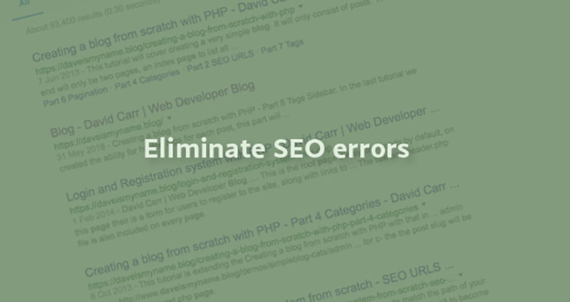 Eliminate SEO errors from your website with these 3 tactics
