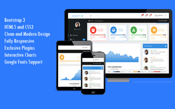 A-Plus – Responsive Bootstrap 3 Admin Template