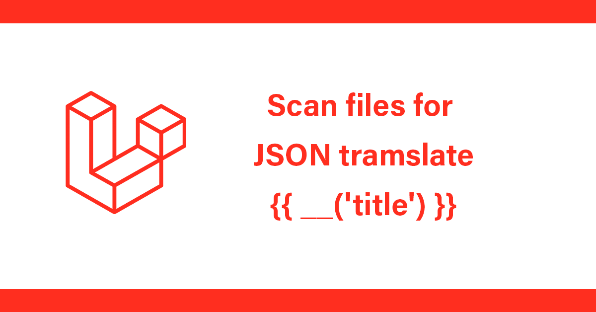 Convert translate message calls to a single json language file