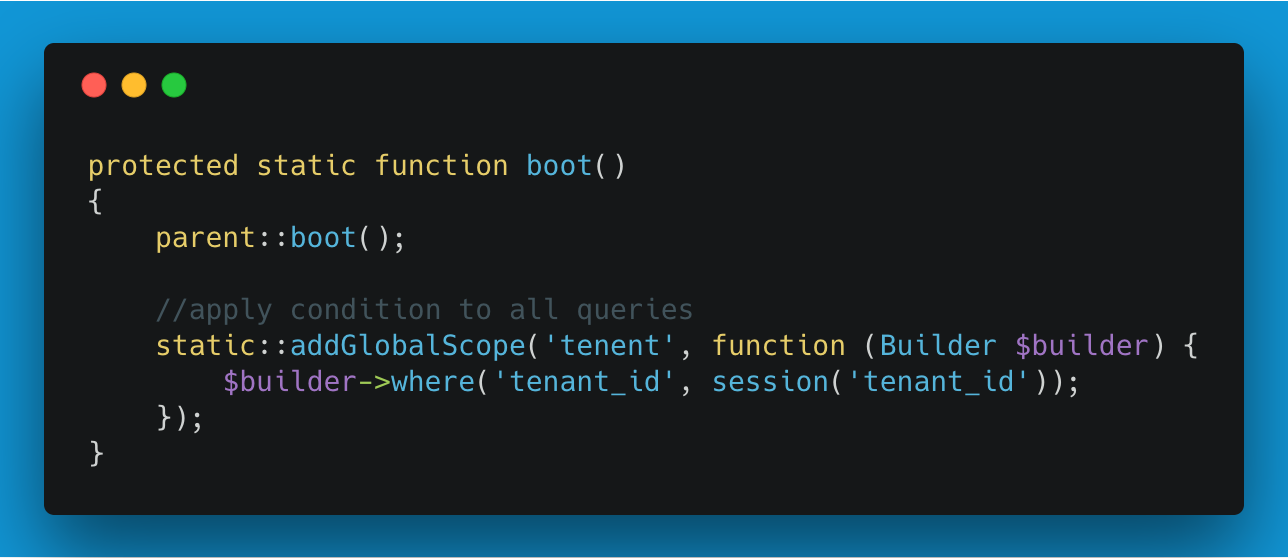 Laravel apply a query constraint with global scopes