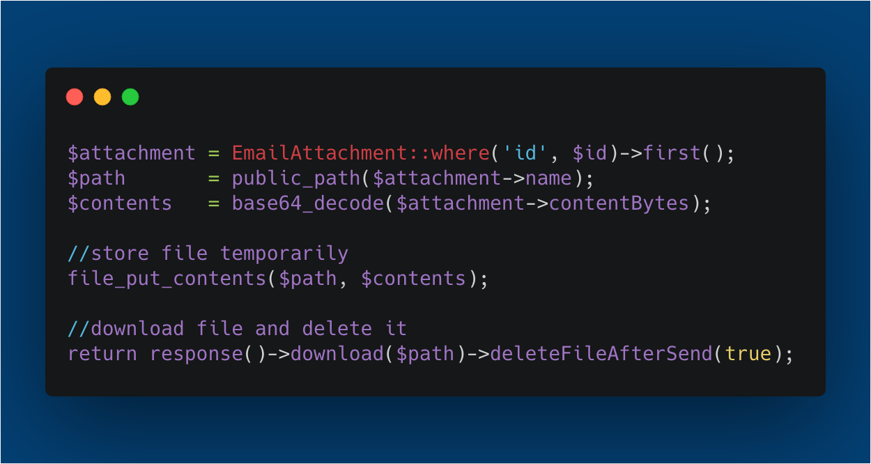 Laravel download base64 encoded files