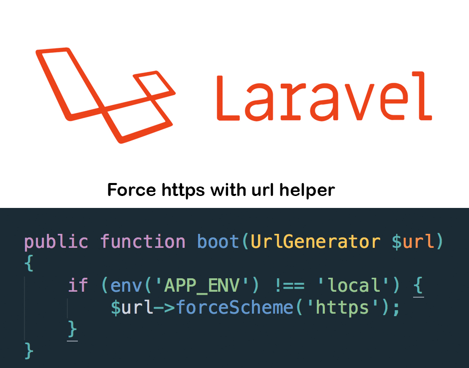 Laravel force https with url helper