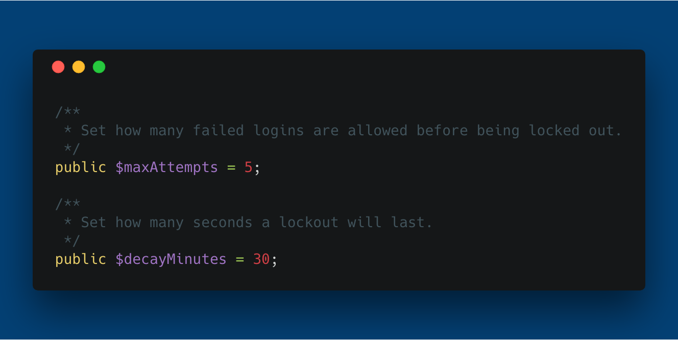 Laravel Limit Login Attempts