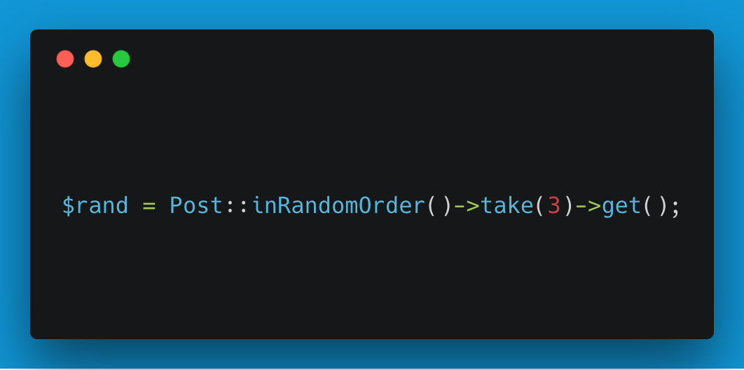 Laravel retreiving records in a random order