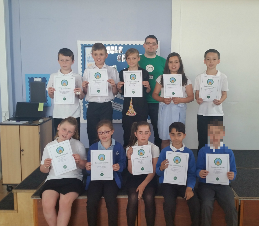 Code Club kids earn their first term certificate