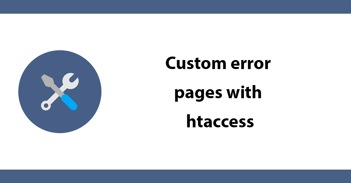 Custom error pages with htaccess