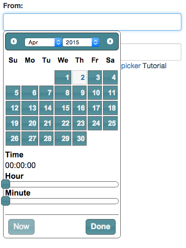 Add hour to datetimepicker