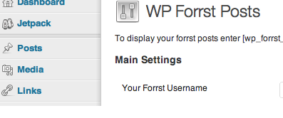 Wordpress Forrst Plugin for Pages