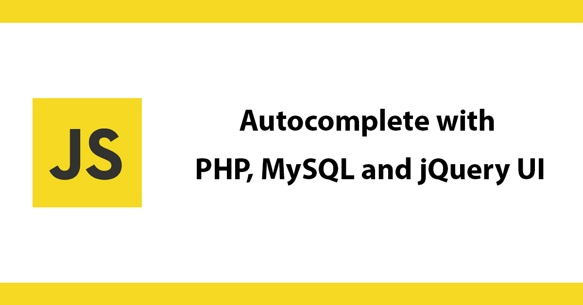 Autocomplete with PHP, MySQL and Jquery UI