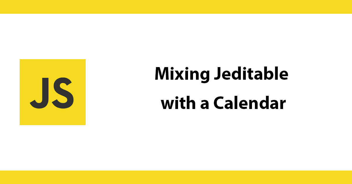 Mixing Jeditable with a Calendar