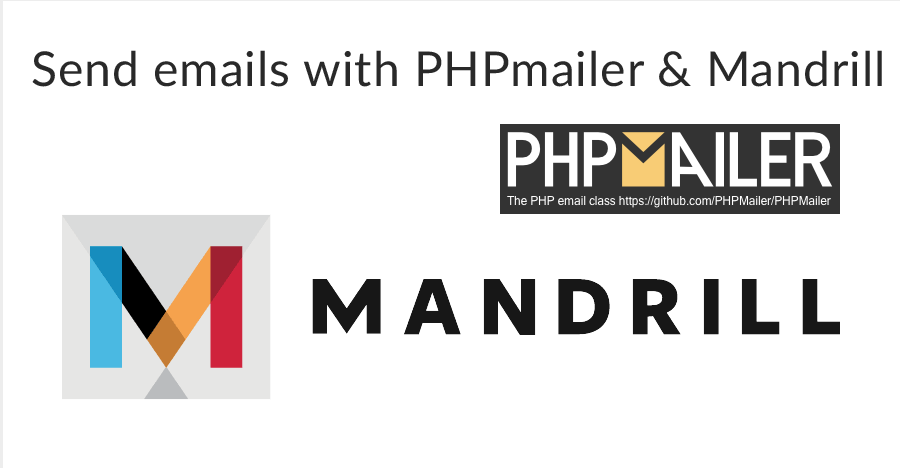 Sending emails with PHPMailer and Mandrill