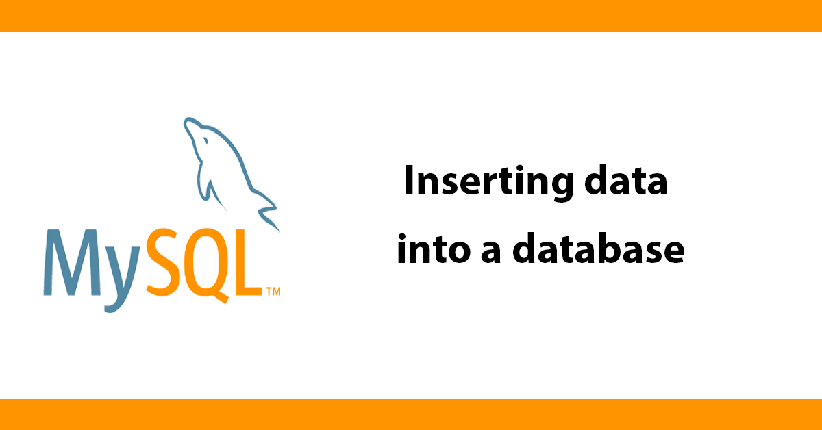 Inserting data into a database