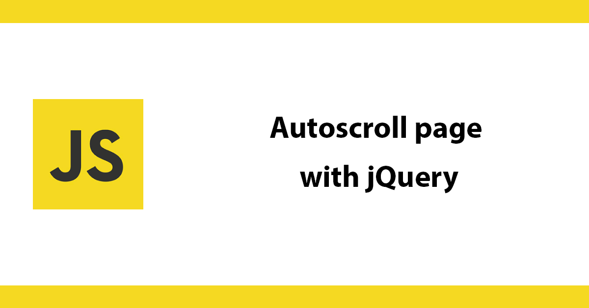 Autoscroll page with jQuery