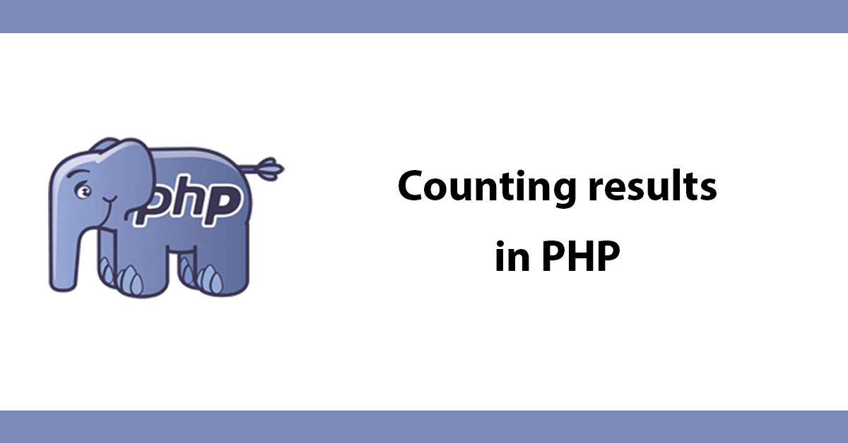 Counting results in PHP