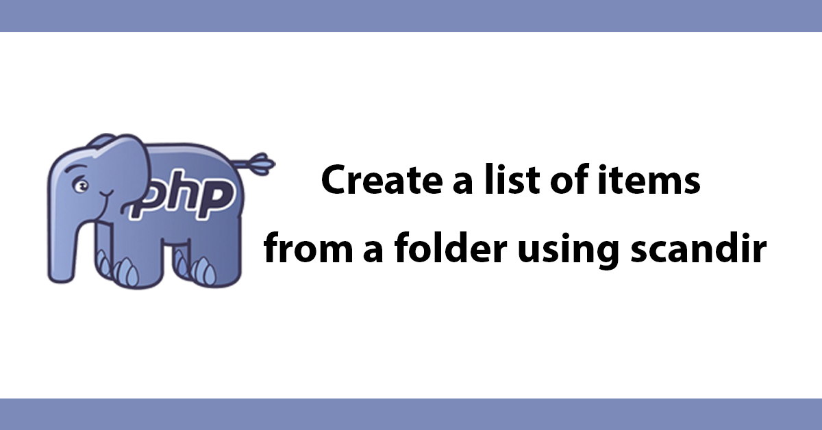 Create a list of items from a folder using scandir