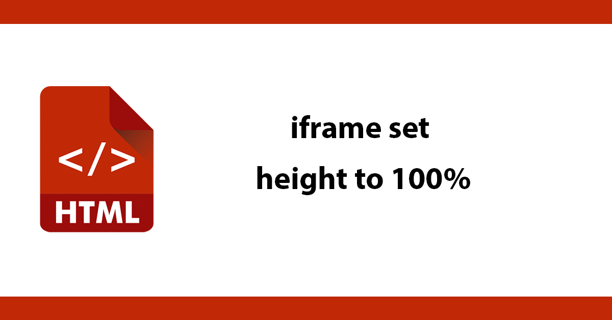 iframe set height to 100%