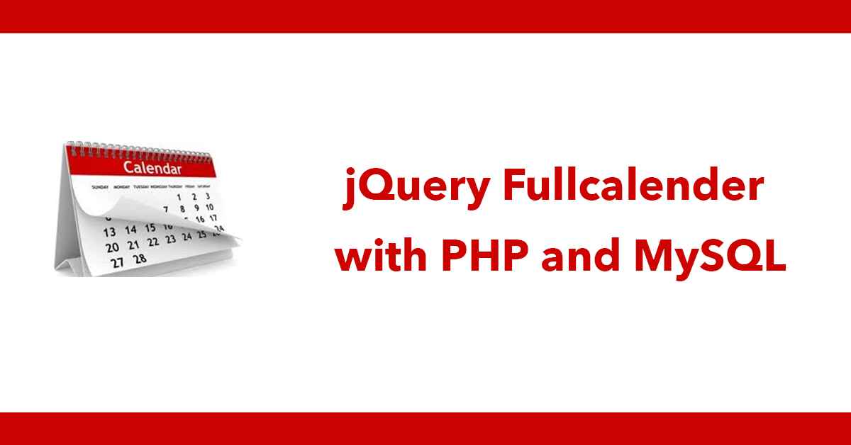 jQuery Fullcalender with PHP and MySQL