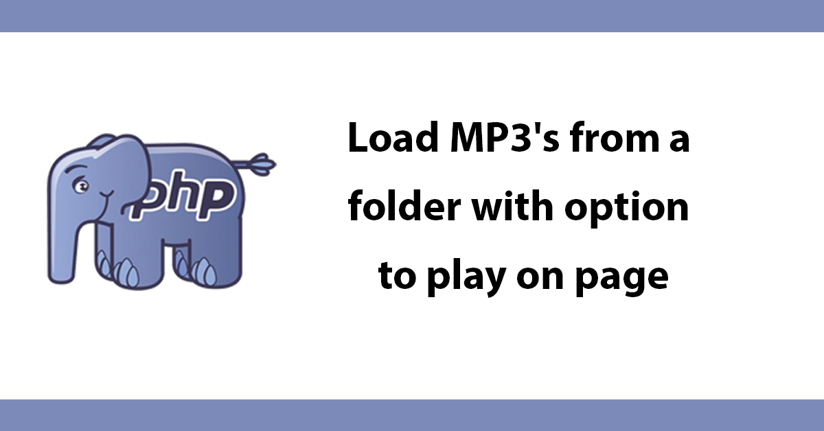 Load MP3's from a folder with option to play on page