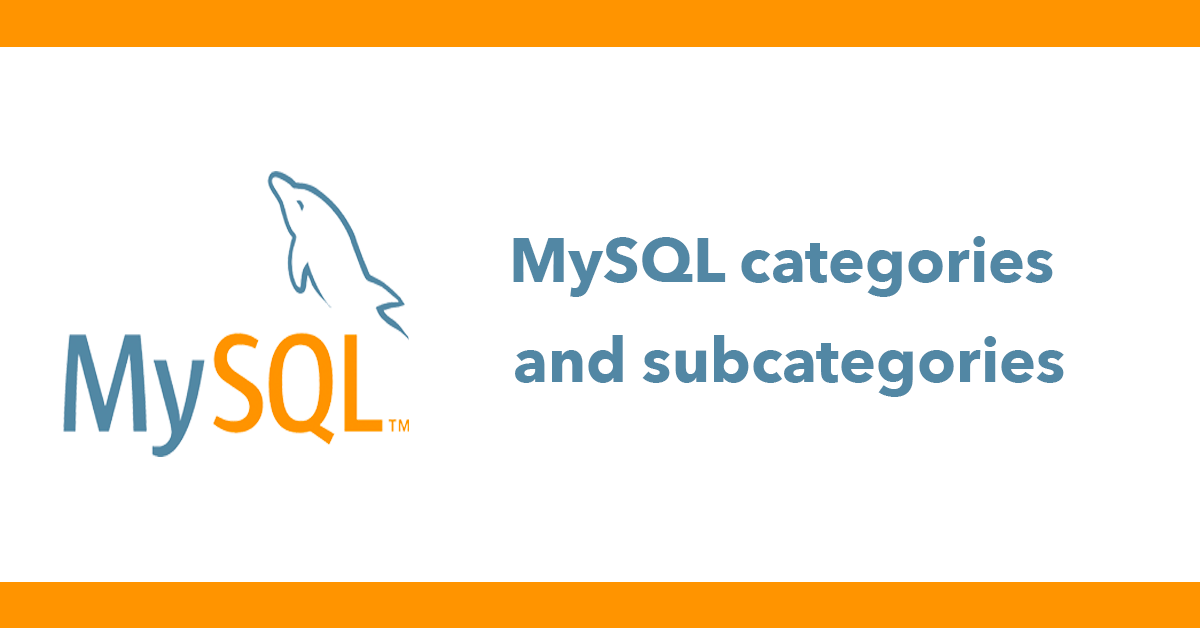MySQL categories and subcategories
