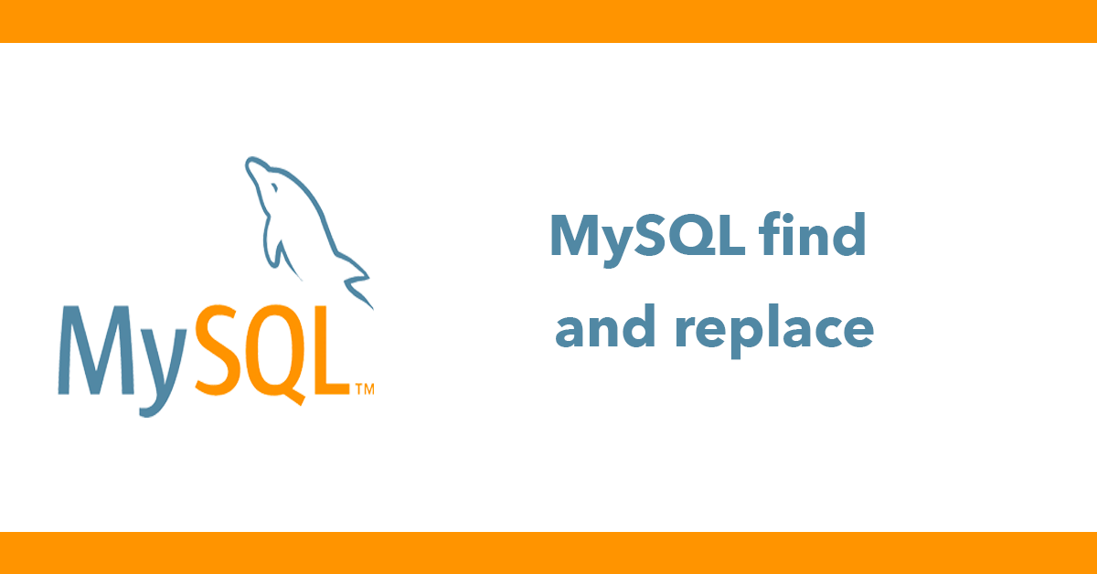 MySQL find and replace