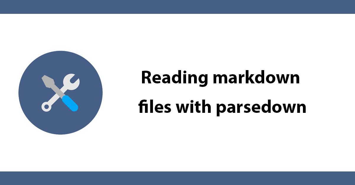 Reading markdown files with parsedown