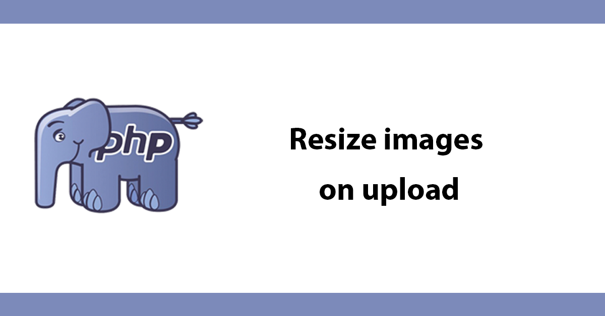 Resize images on upload
