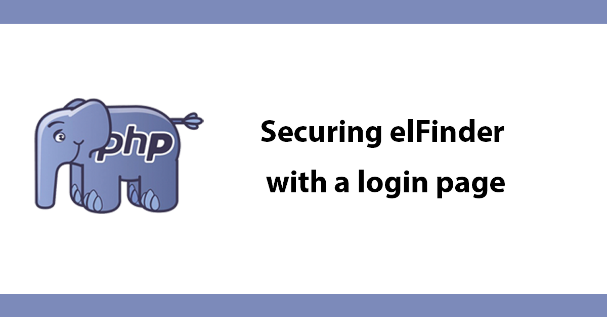 Securing elFinder with a login page