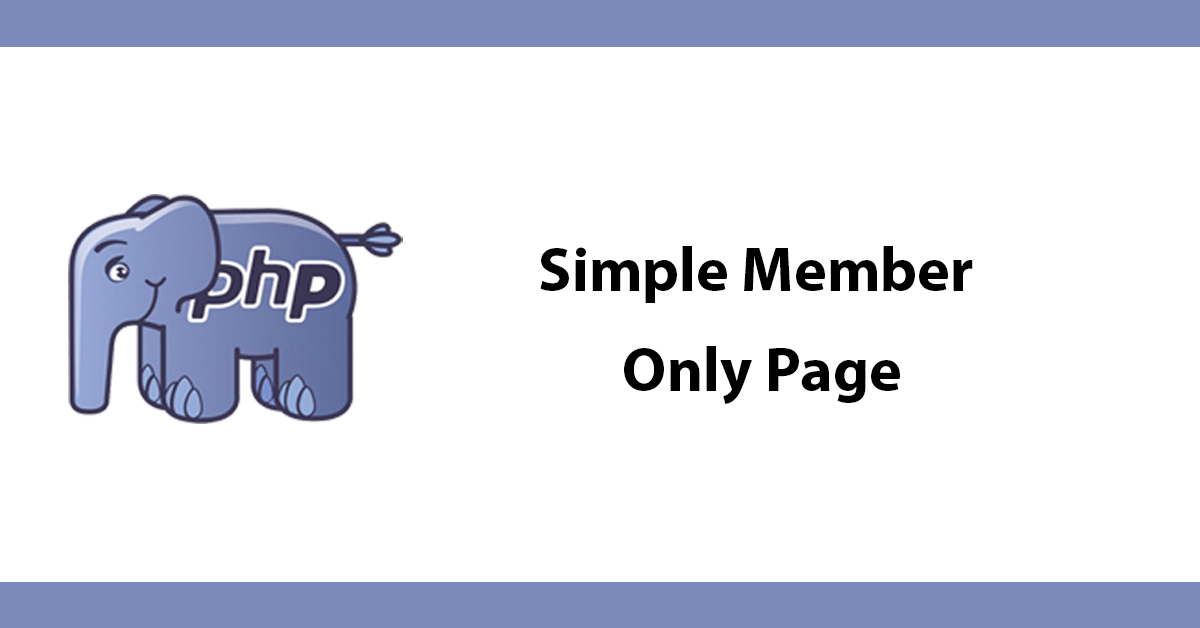 Simple Member Only Page