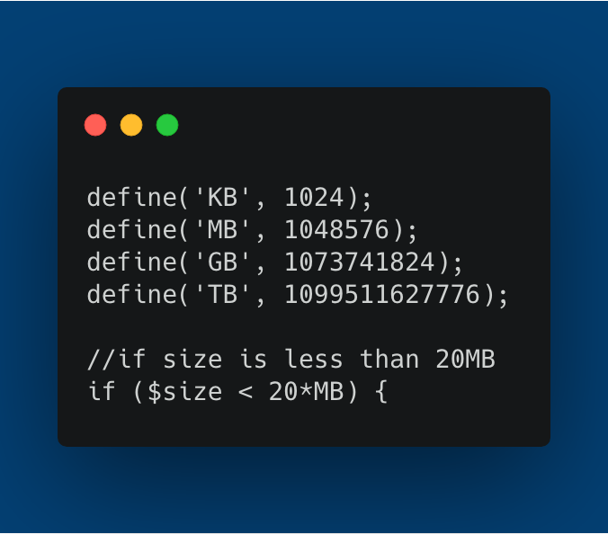Simpler filesize calculations