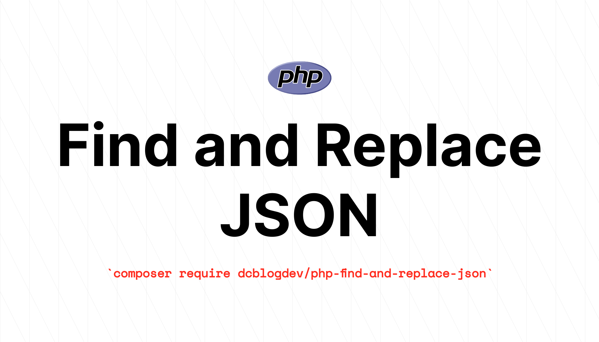 PHP find and replace JSON